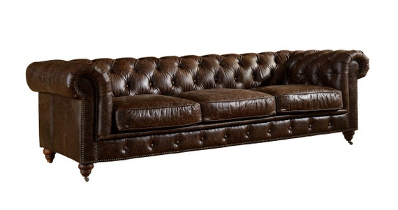 Fabulous Top Grain Vintage Italian Leather Chesterfield Sofa Dark Brown Gmtry Best Dining Table And Chair Ideas Images Gmtryco
