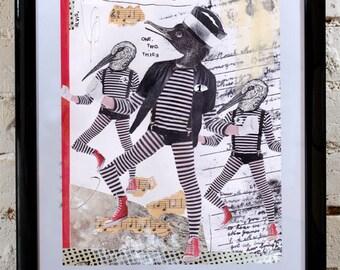 """Illustration - Collage """"Jailhouse Rock"""" - Handmade - OOAK"""