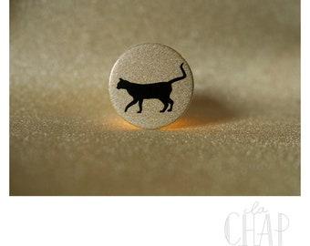 Golden veneers black cat