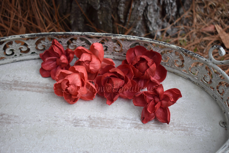 Dozen 12 sola flowers red sola flower diy sola flower apple etsy zoom izmirmasajfo