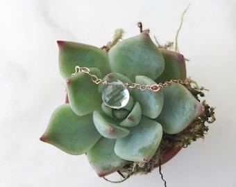 Fertility Necklace, Crystal Quartz Necklace, Cleansing Stone, Infertility Jewelry, Pregnancy Necklace, TTC Gift, Simple, Dainty Necklace