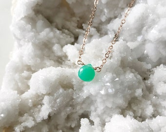 Fertility Necklace, Chrysoprase Necklace, IVF Gift, Fertility Gift, Infertility Necklace, Healing Stone, Fertility Jewelry, Personalized