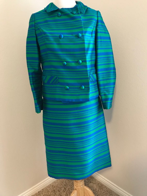Coat dress Peacoat and dress in blue and green str