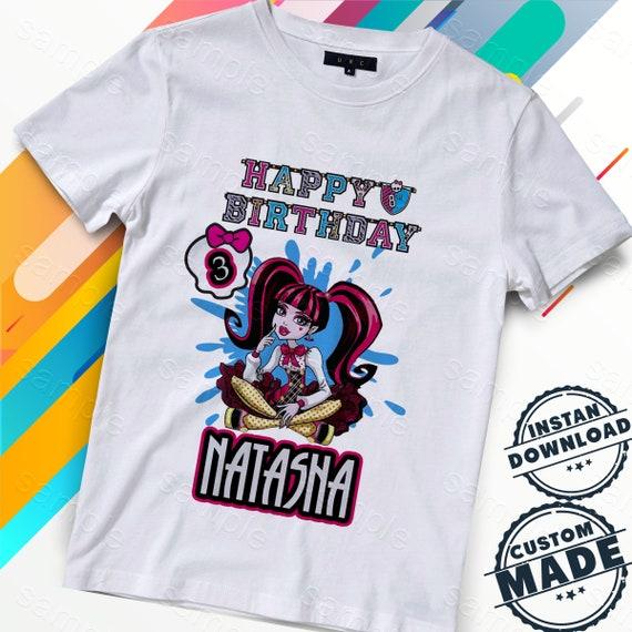 Monster High żelaza Na Transfer Monster High Koszula Etsy