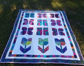 Handmade twin size quilt