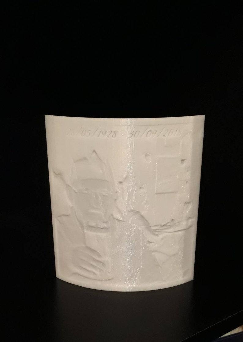 Missed love one keepsake photograph gift. Memorial Lithophane 3D printed photo frame