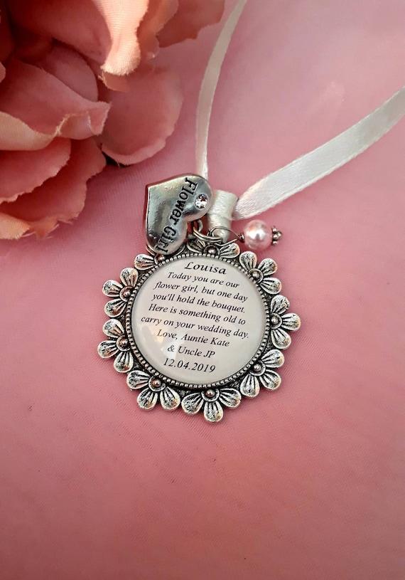 Flower Girl personalised charm bracelet wedding thank you gift! Bridesmaid