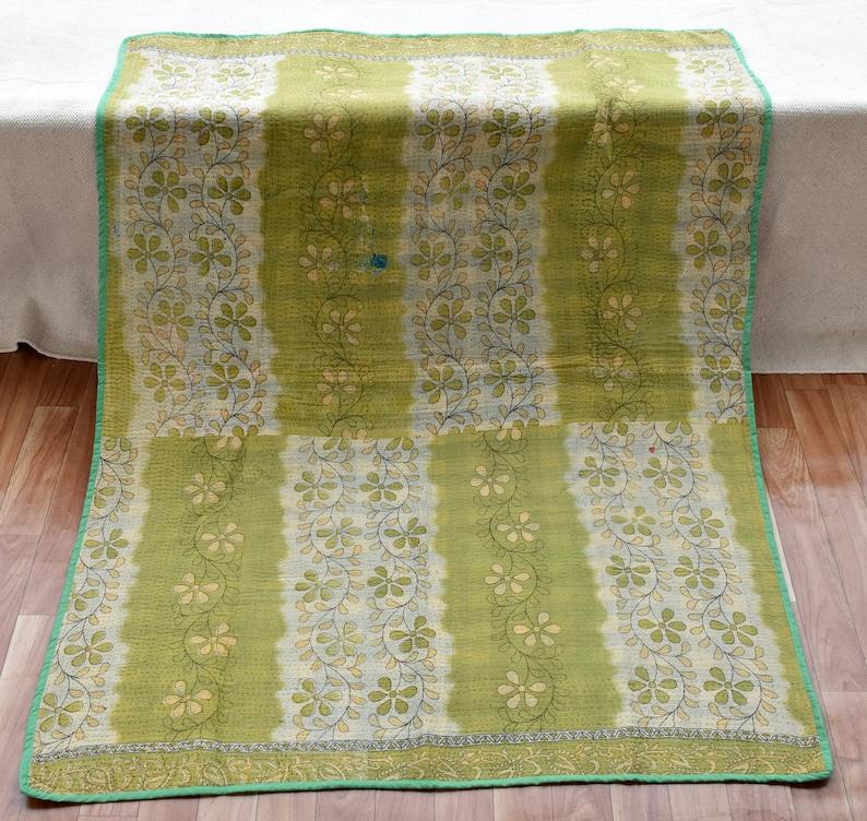 Handmade  Babyshower handmade Quilt Blankets Recycled kantha blanket Vintage Kantha Quilts,New Babyquilt,Vintage  Kantha kantha quilt