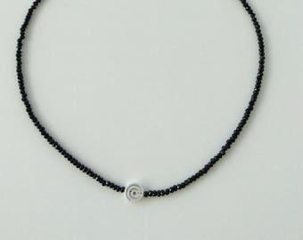 Spinellkette with Silver spiral