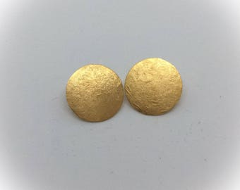 Earrings Golden Sun Discs