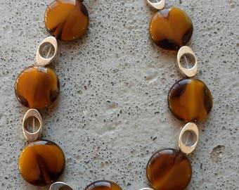 Bracelet, Brown, silver