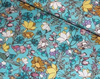 Wild Flowers, Meadow GOTS, Organic knit, Cotton Elastane, Jersey, Stretch Fabric