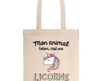 Tote bag my totem animal is a Unicorn