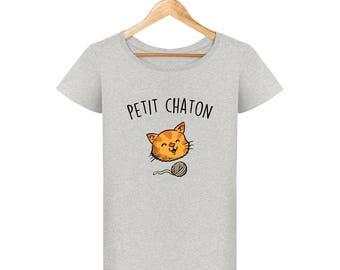 T-shirt woman kitten