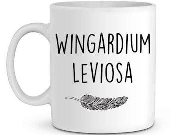 Harry potter wingardium leviosa ceramic mug