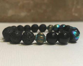 Essential oil diffuser bracelet, lava bead bracelet, aromatherapy lava bead bracelet, beaded bracelet