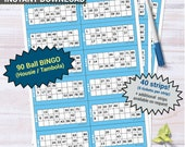 90 Ball Bingo Tambola UK Housie printable Party Game Quarantine activity - family friend office coworker Church Conference Call Online fun