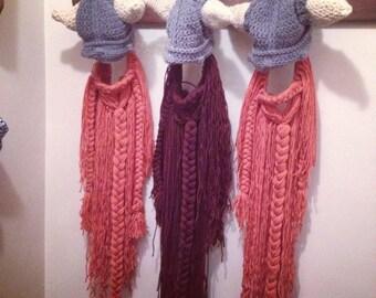 Leif Erikson Long Beard Crochet Hat