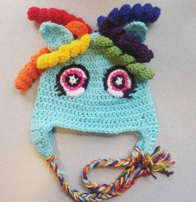 Rainbow Dash My Little Pony Crochet Hat Etsy