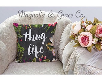 """Shabby Chic Throw Pillow 18''x18"""" *insert included*"""