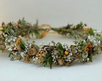 Dry flower hair wreath 'Fasan'