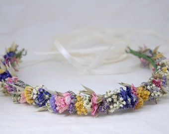 Hair wreath 'Flower meadow'