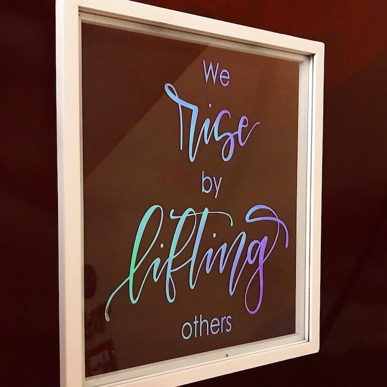 b946e3d19354 Custom quote floating frame Calligraphy glass sign Vinyl | Etsy