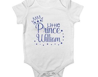 Shopagift Grandmas Little Prince Cute Blue Boys Baby Sleepsuit Romper