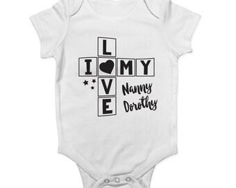 I Really Love My Nanny baby vest boys girls