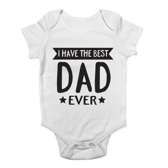 Shopagift Baby I Have The Best Dad Ever Sleepsuit Romper White