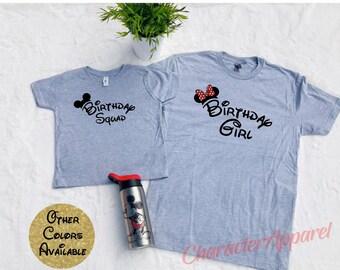 Disney Birthday Shirts Group Girl Boy World Matching Disneyland