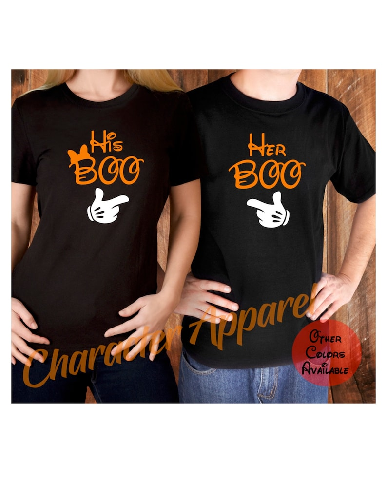 d8ee2a06985b His boo her boo shirt Couples Disney Halloween shirts | Etsy
