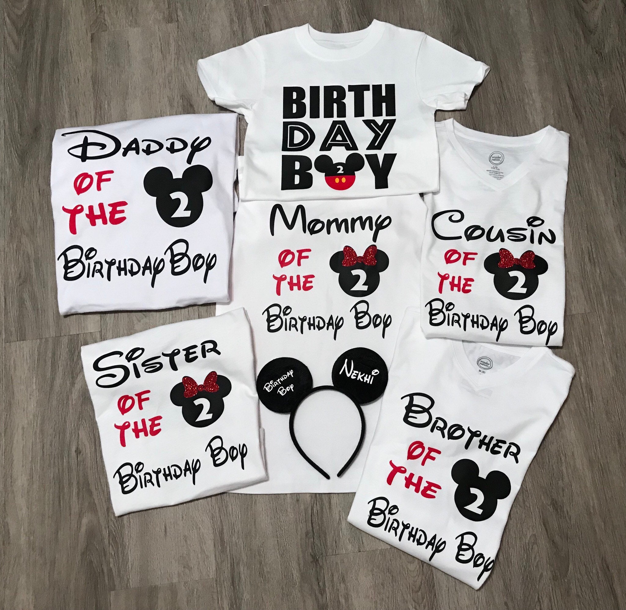 Disney Birthday Boy Shirt Mickey Family