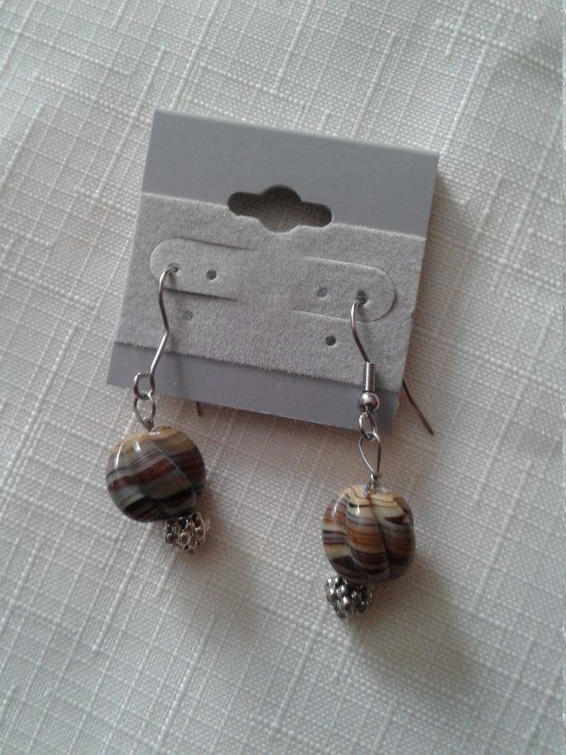 Painted Shell Necklace and Earrings