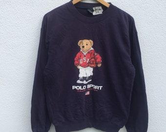 a291d3f3 POLO SPORT BEAR vintage rare!! polo bear sweatshirt pullover