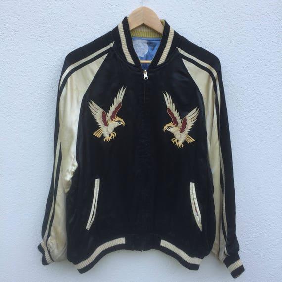 Rare Vintage reversible japanese sukajan eagle sou