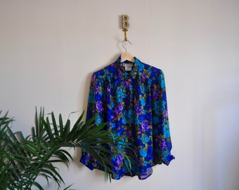 Long Sleeve Floral Blouse