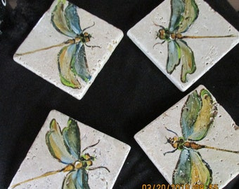 coasters,  dragonfly, set of 4