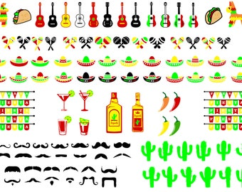 448 files x Cinco De Mayo SVG Ultimate Bundle, mexico svg, guitar svg, pinatas svg, maracas tacos chili peppers tequila sombrero cactus