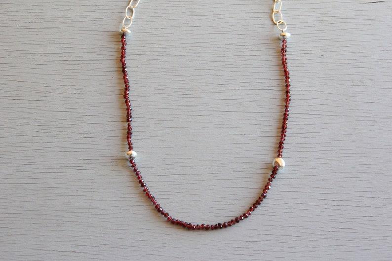 Marva Garnet Necklace