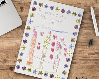 Personalized notebook with your drawing