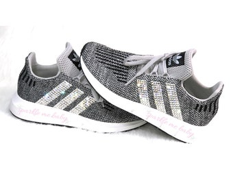 ... Shoes reputable site f8600 85529 Adidas Swift Run ~ Preschool ~  Crystal Choice ~ Swarovski ~ Blinged ...