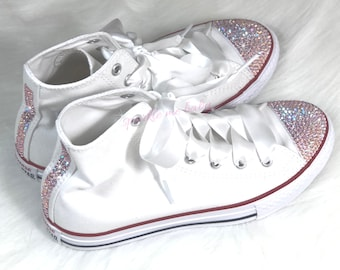 Kids Converse - Bling Converse - Customized Converse - Swarovski Converse -  Crystal Converse - Bling Shoes -Bedazzled - SparkleMeBaby2U ee26ab065b