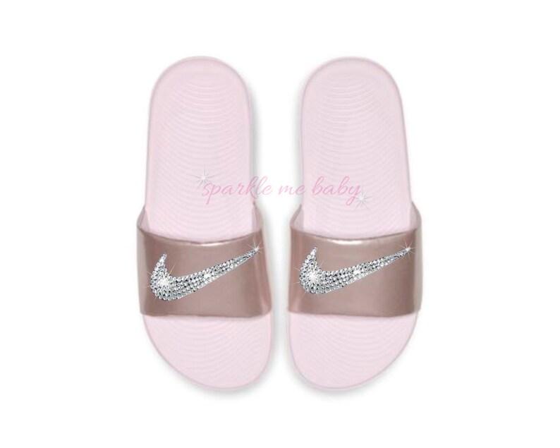 6fbc8441f Nike Slide Kids Arctic Pink NEW Custom Nike Slides
