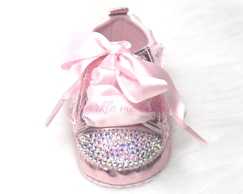 40058118c3ad02 Bling Baby Shoes Pink Babygirl Shoes Fancy Baby Shoes