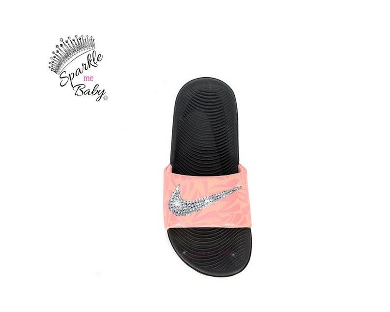 146cd158f64535 Nike Slide Kids - Custom Nike Slides - Nike Sandals - Bedazzled Nikes - Bling  Sandals - Swarovski Nike - Custom - SparkleMeBaby2u