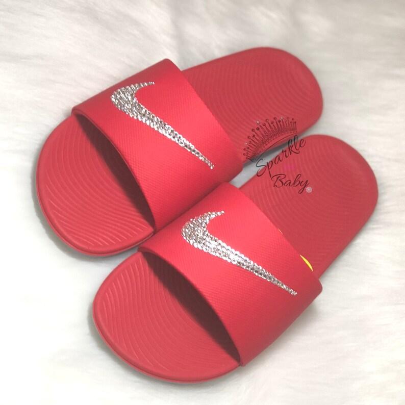 46474717fd821e Swarovski Women s Nike Slide Custom Nike Slides