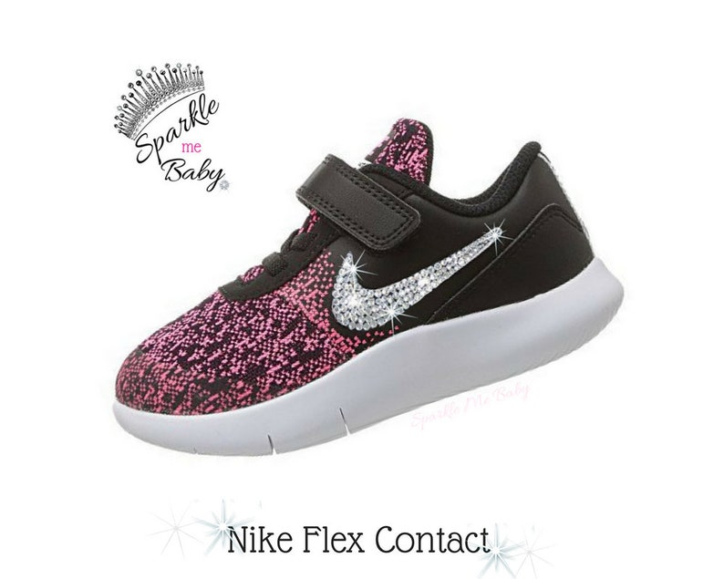 9d4937ca4e8a6 Nike Flex Contact Infant   Toddler in Pink Bedazzled Nike