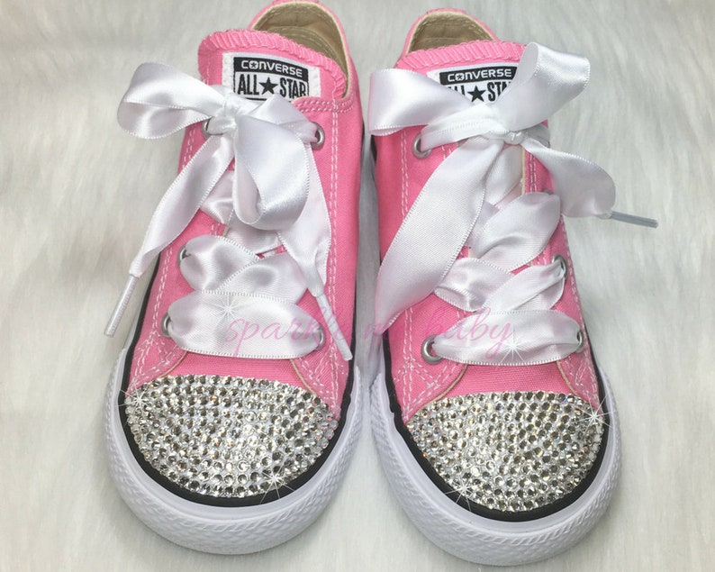 33367774c02d4 Baby Converse - Custom Converse Bling Infant / Toddler - Swarovski Converse  - Bedazzled Bling Shoes - Customized Converse by SparkleMeBaby2U