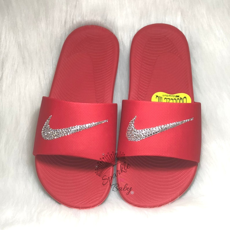 6c36dbc852a2bf Nike Slide Kids Red Custom Nike Slides Nike Sandals